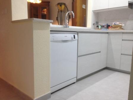 Puerta panel cristal mueble cocina for Cocinas a medida baratas